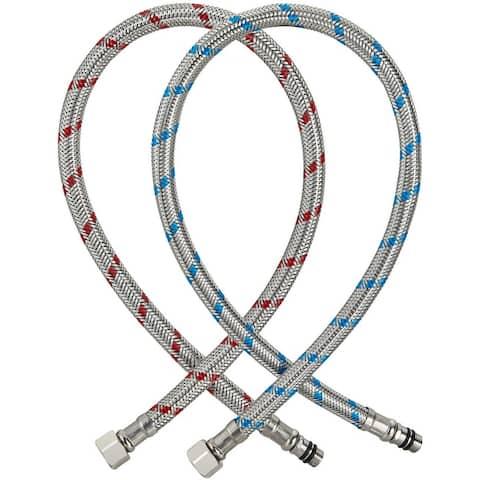 SLSF Faucet Supply Lines 2 Pcs(1 Pair)32 Inch Faucet hose