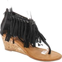 Not Rated Womens Sybil Fringe Wege Sandal