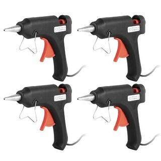 4 x US Plug AC 100-240V 20W Plastic Heating Melting Glue Gun Black