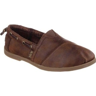 Skechers Women's BOBS Chill Luxe Buttoned Up Alpargata Brown