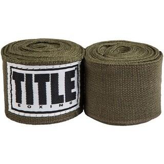 """Title Boxing 180"""" Semi Elastic Mexican Handwraps - Hunter Green"""