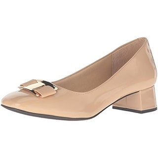 Trotters Womens Louise Patent Leather Square Toe Pumps