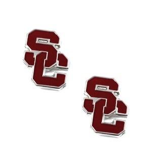 USC Trojans Post Stud Earring NCAA Charm Set