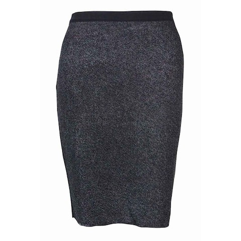 RACHEL Rachel Roy Women's Knitted Metallic Pencil Skirt - Prismatic Iridescent Combo - S