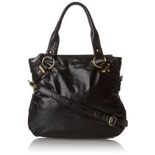 Latico Womens Rosalie Leather Convertible Shoulder Handbag - Black - Medium