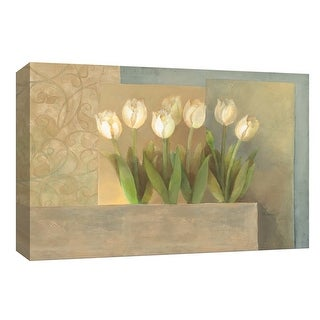 "PTM Images 9-153904  PTM Canvas Collection 8"" x 10"" - ""White Tulips"" Giclee Flowers Art Print on Canvas"
