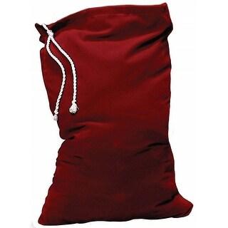 Burgundy Velvet Santa Claus Toy Bag with Drawstring  One Size - RED