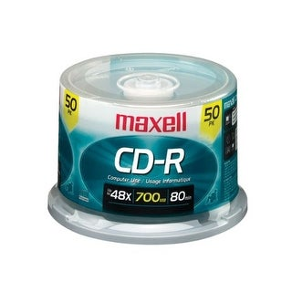 maxell MXLCDR8050SM Disc CD-R 80 min48X Branded 50pk Spindle 025215625763