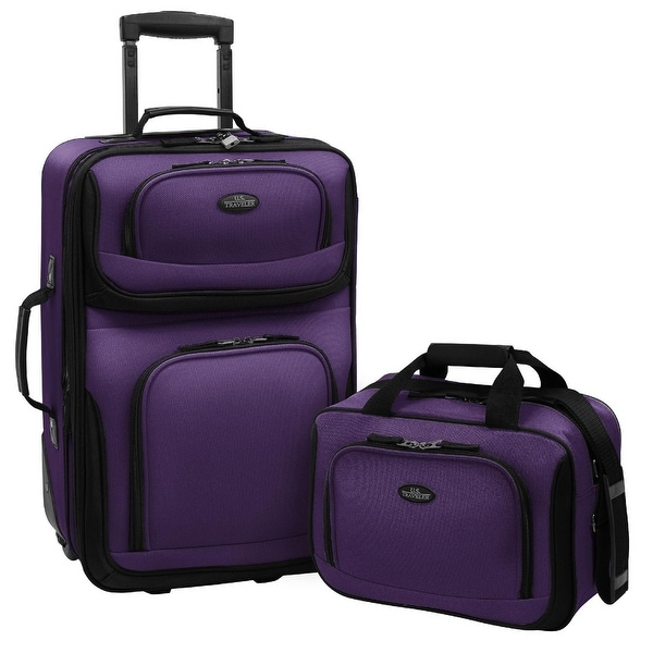 U.S Traveler Rio carry-on lightweight expandable rolling luggage ...