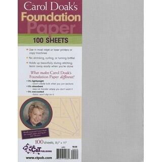 "Carol Doak's Foundation Paper-8.5""X11"" 100/Pkg"