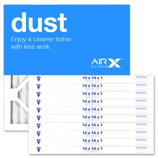 shop airx filters dust 14x14x1 air filter merv 8 ac furnace pleated ...