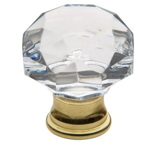 Baldwin 4324 Crystal 1-3/8 Inch Diameter Geometric Cabinet Knob from the Estate Collection