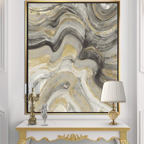 Designart 'Glam Gold Canion' Modern & Transitional Framed Canvas - Multi-color