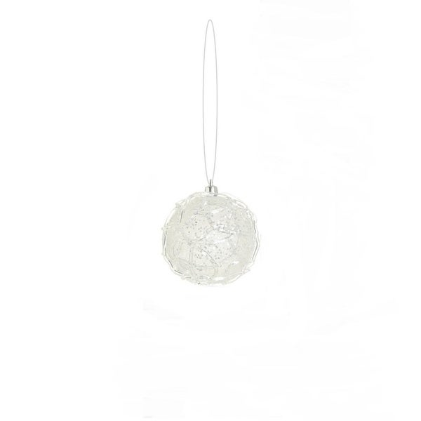 "3.25"" Winter Light Clear Glittered Shatterproof Christmas Ball Ornament"