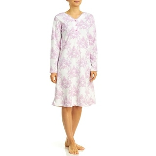 Body Touch Sleepwear Women's Brushed Back Nightgown - Plus Size