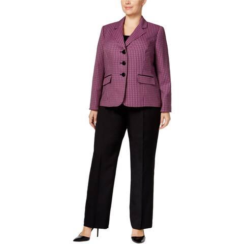 Le Suit Womens Pocketless Casual Trouser Pants, black, 20W