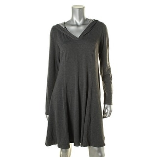 Studio M Womens Casual Dress Hooded Long Sleeves