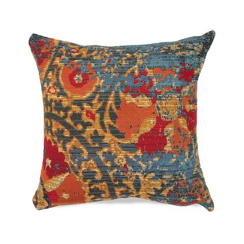Liora Manne Marina Suzanie Indoor/Outdoor Pillow Blue
