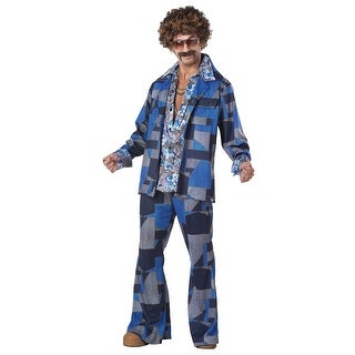 Mens Boogie Nights Leisure Suit Costume