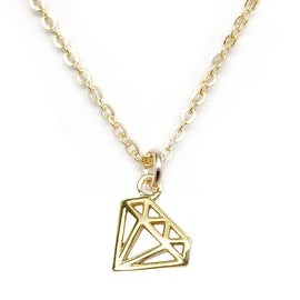 Julieta Jewelry Diamond Outline Charm Necklace