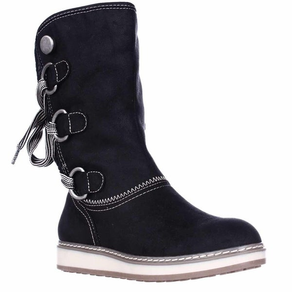 White Mountain Tivia Faux Shearling Lined Winter Boots, Black