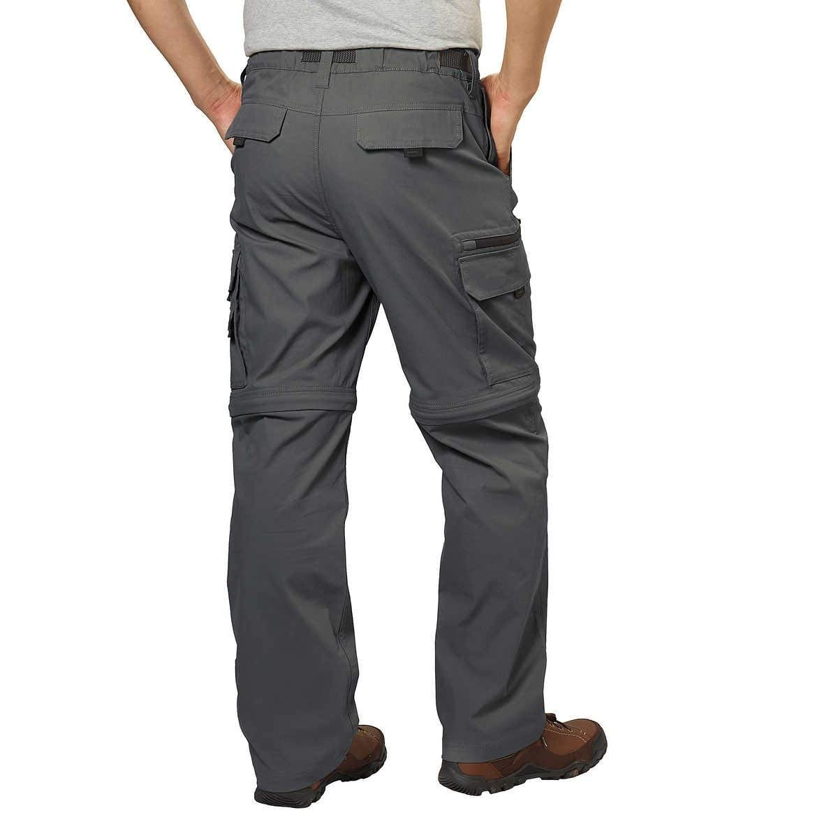 BC Clothing Mens Convertible Lightweight Comfort Stretch Cargo Pants or Shorts