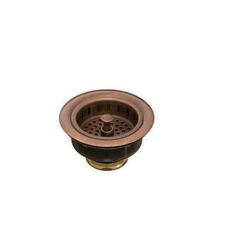 "Signature Copper BDC-BS35 Basket Strainer for Kitchen Sinks, 3.5"" Drain Opening"