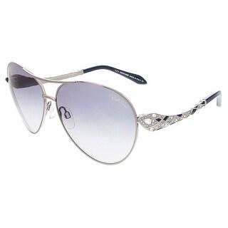 Roberto Cavalli RC920S-A/S 12B MUPHRID Shiny Ruthenium Aviator sunglasses