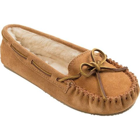 Minnetonka Women's Cally Slipper Cinnamon Suede