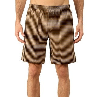 Brooks NEW Brown Black Striped Mens Size 2XL Shorts Athletic Apparel