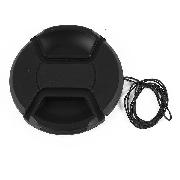 Black 72mm Front Lens Cap Cover + String Replacement for Digital DSLR SLR Camara