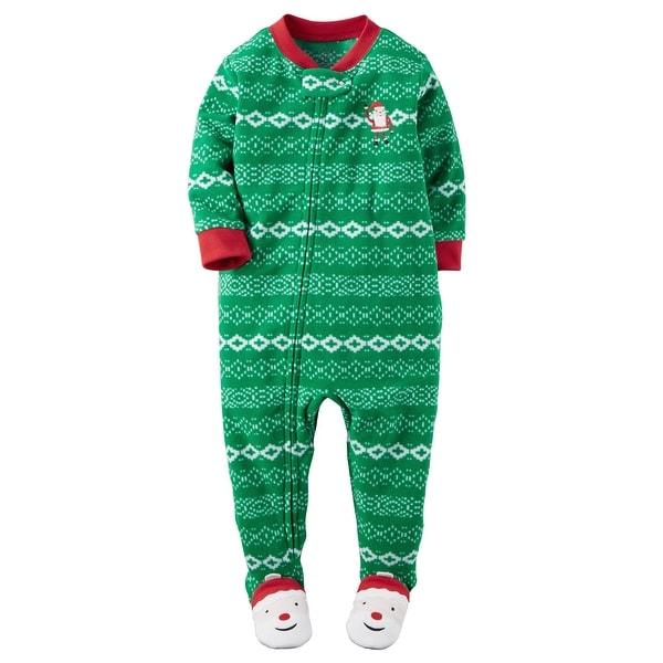 aacdb19cf Shop Carter s Baby Boys  1 Piece Fleece Christmas Pajamas - 12 ...