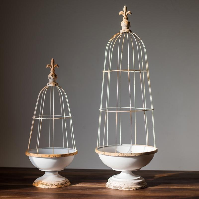 RusticReach Decorative Iron Bird Cage (Large)