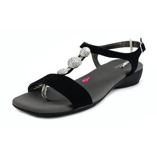 Ros Hommerson MARIEL Women Open Toe Synthetic Black Sandals
