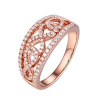 Prism Jewel 0.57Ct Round Cut G-H/SI1 Natural Diamond Infinity Ring - White G-H