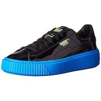 c4f471bae2a1 Kids Puma Girls Basket Platform Block Jr Low Top Lace Up Walking Shoes
