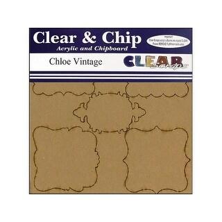 Clear Scraps Album Clear N Chip Mini Frames Chloe