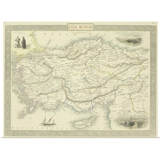 """""""Antique map of Asia Minor"""" Poster Print"""