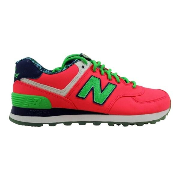 77138a12b576b ... Women's Athletic Shoes. New Balance Women's 574 Pink/Green-Navy  Luau Pack WL574ILC