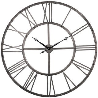 Link to The Gray Barn Grey Rivet Roman Industrial Oversize Wall Clock Similar Items in Decorative Accessories