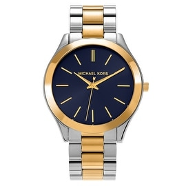Michael Kors Women's MK3479 'Runway' Two-tone Blue Dial Bracelet Watch