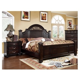 Link to Furniture of America Vame Traditional Walnut 2-piece Bedroom Set Similar Items in Bedroom Furniture