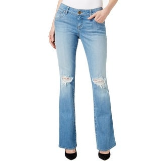 Kut from the Kloth NEW Blue Women's Size 10 Ripped Bootcut Jeans