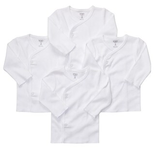 Carter's Unisex Baby Side Snap Long Sleeve Shirts No Scratch Flaps