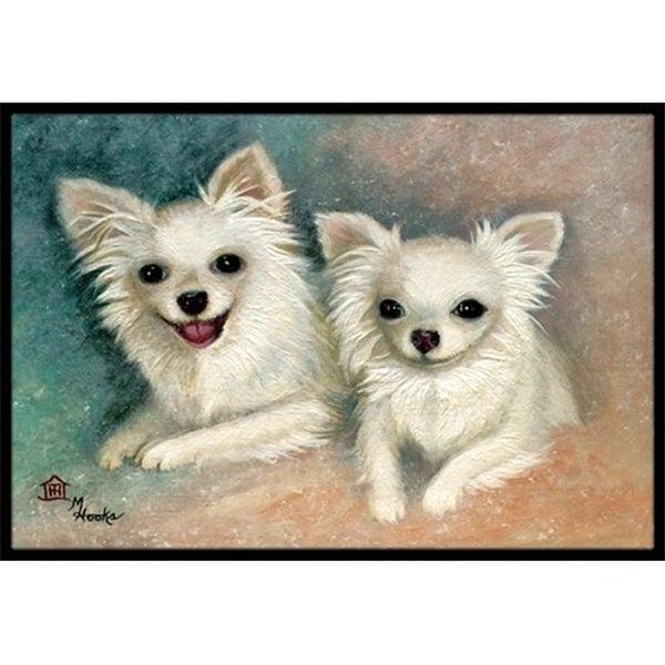 Carolines Treasures MH1064JMAT Chihuahua The Siblings Indoor & Outdoor Mat 24 x 36 in.