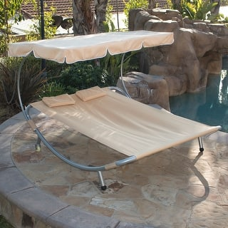 Belleze Patio Steel Double Hammock Bed Moving Sun Lounger Chaise w/ Canopy and Wheel|https://ak1.ostkcdn.com/images/products/is/images/direct/48074321056516c9add2ad93992edb18d21136c1/Belleze-Patio-Steel-Double-Hammock-Bed-Moving-Sun-Lounger-Chaise-w--Canopy-and-Wheel.jpg?impolicy=medium