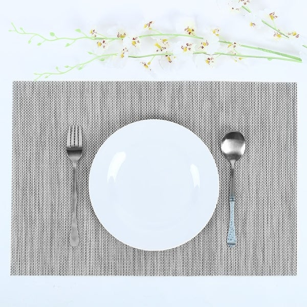 Heat Resistant Non-skid Removable PVC Table Mats Woven Placemats. Opens flyout.