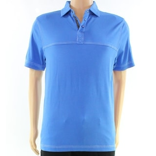Bugatchi Uomo NEW Blue Mens Size Medium M Polo Pima Cotton Shirt