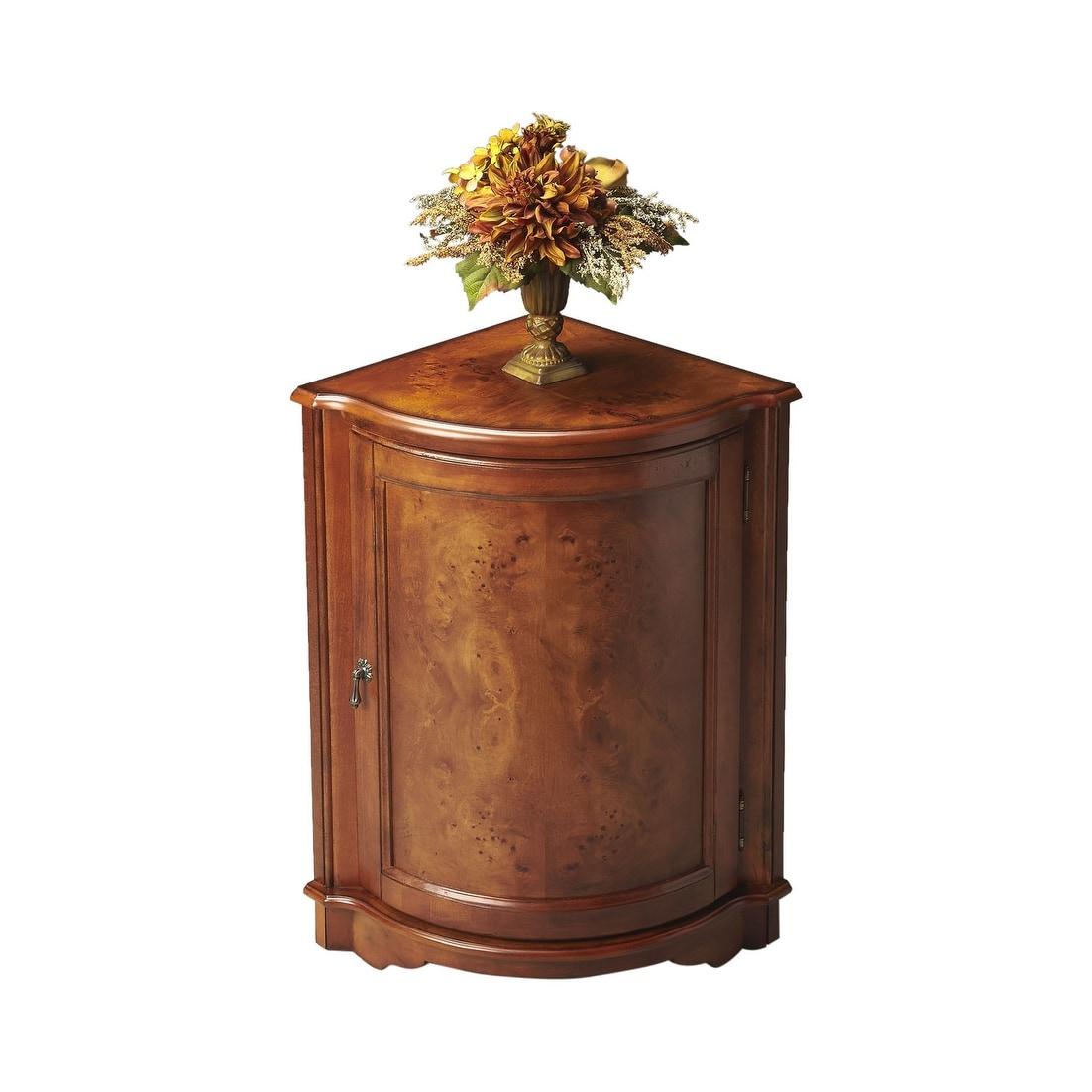 Quarter Round Wooden Corner Cabinet