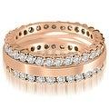 1.75 cttw. 14K Rose Gold Round Prong Diamond Eternity Ring - Thumbnail 0